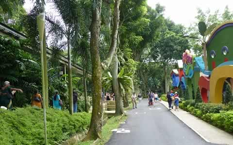 Picture of Singapore's Jarong Bird Park at Jurong.