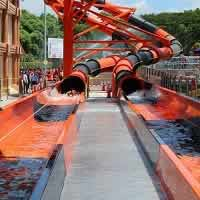 Torpedo is a water slide at Singapore's Wild Wild Wet Water Park.