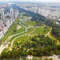 Kallang River Flows Through Singapore's Bishan Park