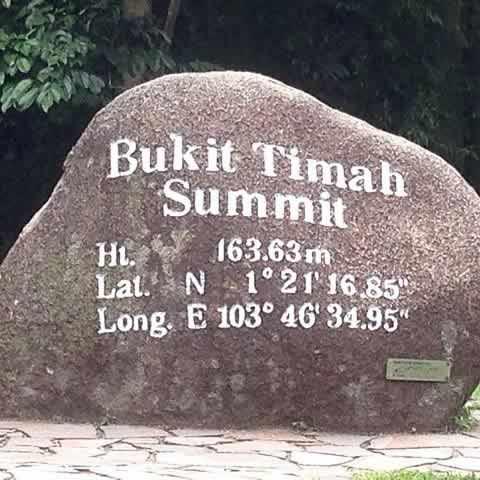 Summit Of Bukit Timah Hill In Bukit Timah Nature Reserve